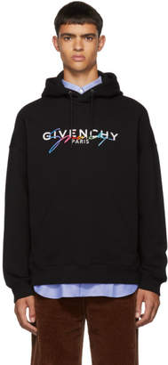 Givenchy Black Signature Logo Hoodie