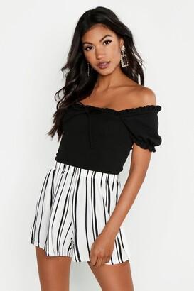 boohoo Striped Jersey Shorts