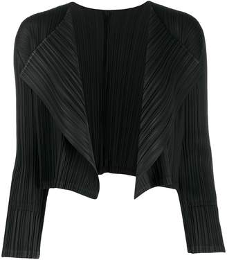 Pleats Please Issey Miyake pleated fitted jacket