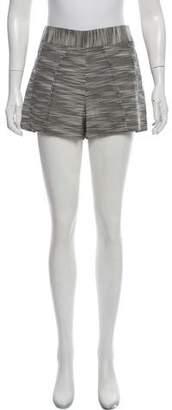Zac Posen Mid-Rise Textured Shorts w/ Tags