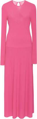 Carolina Herrera Full Sleeve Ribbed Dress With Bustier Detail