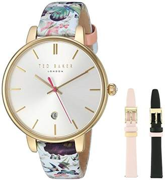 Ted Baker Women's Kate Stainless Steel Japanese-Quartz Watch with Leather Strap