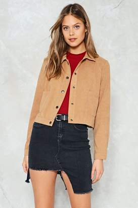 Nasty Gal Make a Snap Decision Vegan Suede Shirt