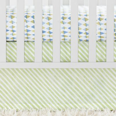 Sprout Candy Stripe Crib Skirt