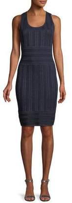 St. John Gossamer Illusion Knit Cocktail Dress