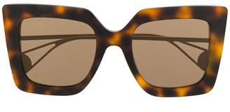 Gucci Evolution Square Havana Sunglasses