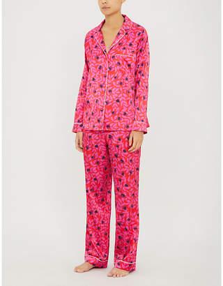 60de4857f Yolke Floral-print stretch-silk pyjama set