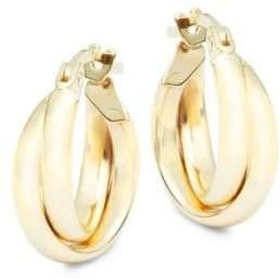 Saks Fifth Avenue 14K Gold Double Hoop Earrings