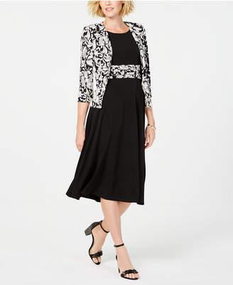Jessica Howard Printed Jacket & Midi Dress