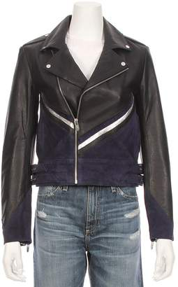 Moto THE MIGHTY COMPANY The Champagne Leather Suede Jacket
