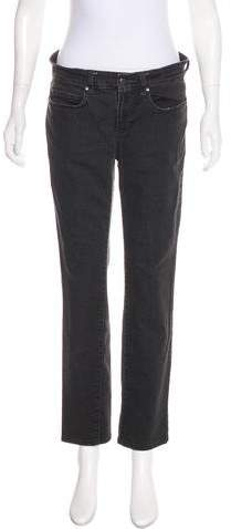 Eileen Fisher Mid-Rise Straight-Leg Jeans