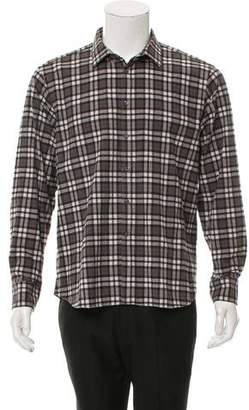 Simon Spurr Plaid Button-Up Shirt