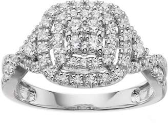 Vera Wang Simply Vera 14k White Gold 1/2 Carat T.W. Certified Diamond Halo Engagement Ring