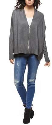 Black Tape Grey Oversized Zip Cardigan