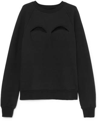 Maison Margiela Cutout Cotton-blend Jersey Sweatshirt