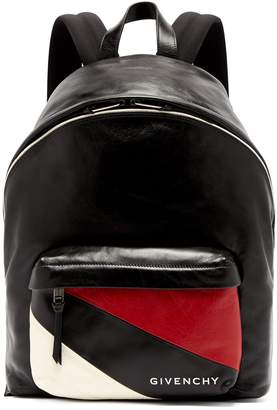 Givenchy Urban striped-pocket leather backpack