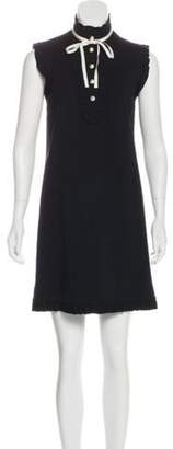 Gucci Sleeveless Ruffle-Trimmed Dress Black Sleeveless Ruffle-Trimmed Dress
