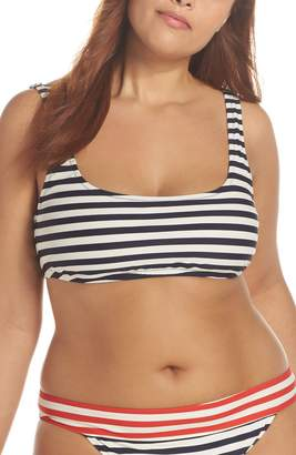 J.Crew Stripe Scoop Bikini Top