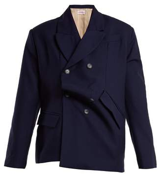 Charles Jeffrey Loverboy - Double Breasted Wool Blazer - Womens - Navy