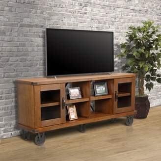 URBAN RESEARCH OS Home and Office Furniture Model 33270 Industrial Collection 72 inch wide TV Console with glass