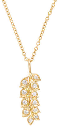 Jamie Wolf 18K Gold Vine Pendant Necklace with Diamonds