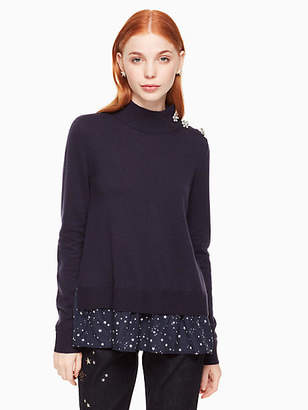 Kate Spade Night sky mixed media sweater