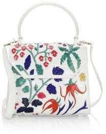 Nancy Gonzalez Medium Lily Top Handle Crocodile Bag