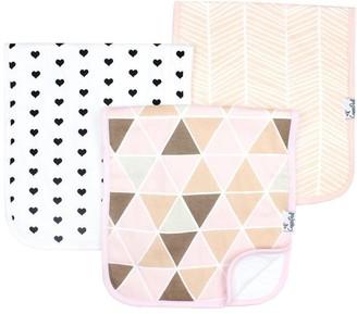 Baby Essentials Copper Pearl Burp Cloth 100% Cotton Rosie 3-Pack