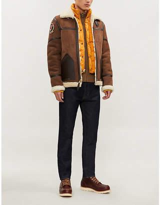 Schott Shearling and padded shell aviator jacket