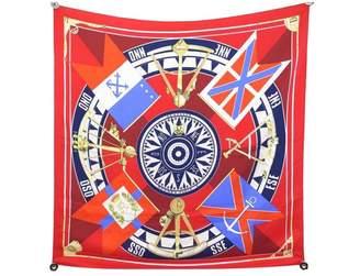 Hermes Vintage Red Silk Silk handkerchief