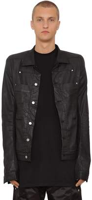 Rick Owens Waxed Cotton Denim Jacket