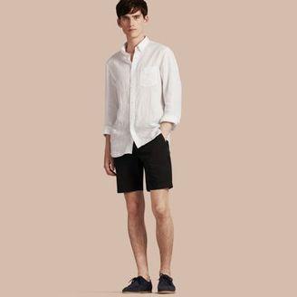 Burberry Cotton Poplin Chino Shorts $195 thestylecure.com