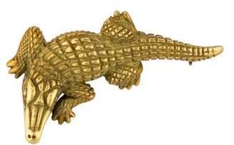 Kieselstein-Cord 18K Alligator Brooch