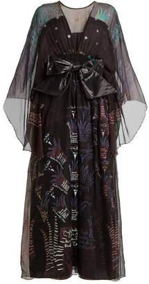 Zandra Rhodes Summer Collection The 1973 Field Of Lilies Gown - Womens - Black Multi