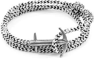 ANCHOR & CREW - White Noir Admiral Anchor Silver & Rope Bracelet