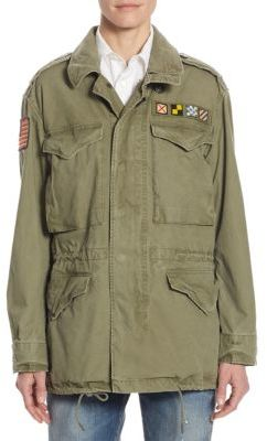 Polo Ralph Lauren Canvas Military Jacket $398 thestylecure.com