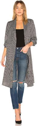 AVEC LES FILLES Striped Robe Jacket