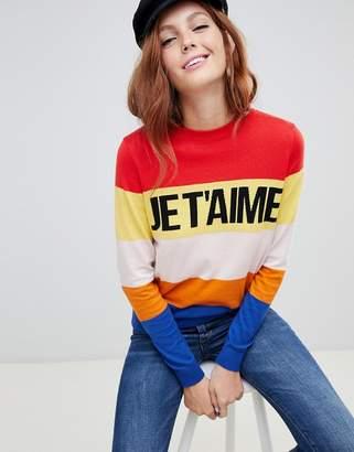 New Look je t aime slogan sweater