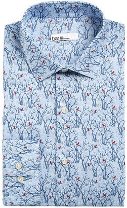 Bar III Men's Slim-Fit Stretch Snow Tree Print Dress Shirt