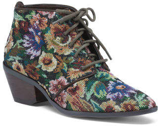 Floral Tapestry Booties