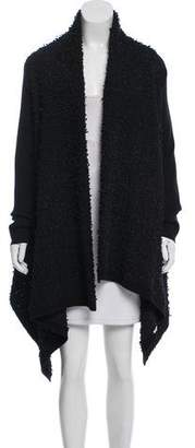 Valentino Bouclé High-Low Cardigan
