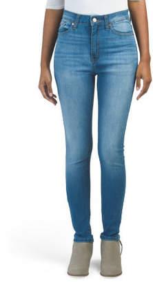 Juniors High Rise Light Wash Skinny Jeans