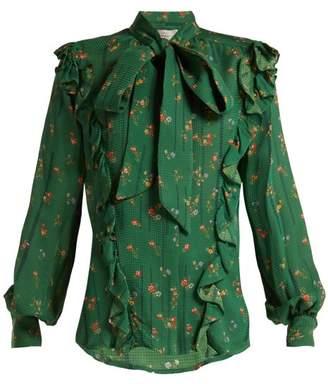 Preen by Thornton Bregazzi Lana Floral Print Silk Blouse - Womens - Green Multi