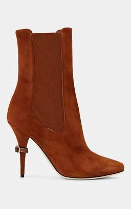 Burberry Women's D-Ring Suede Chelsea Boots - Beige, Tan