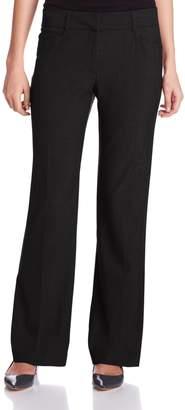 Briggs New York Women's Boot Cut Pant with Comfort Back Elastic Average Length