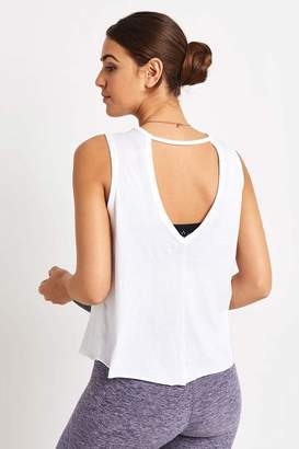 Beyond Yoga White All About It Cropped Tank - S - White