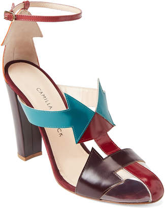 Camilla Elphick South Ankle Strap Leather Pumps