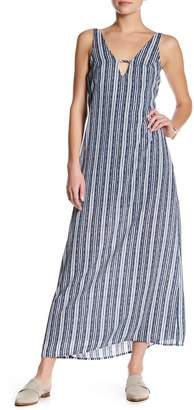 Mimi Chica Deep V-Neck Maxi Slip Dress $52 thestylecure.com