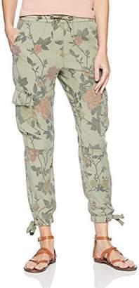 Pam & Gela Women's Foral Printed Cargo Pant