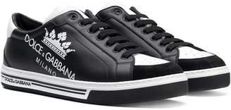 Dolce & Gabbana Teen crown print sneakers